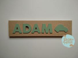 Naampuzzel 0-5 letters. Bijv. 'Adam - vintage groen'