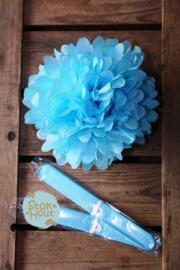 2x Pompon 25cm Licht Blauw(ST109)