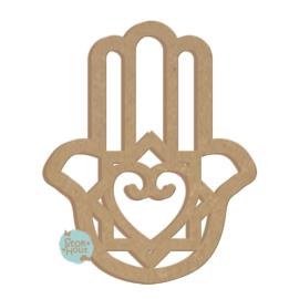 MDF figuur 60cm Handje van Fatima (Hamsa) #2 (ST281)
