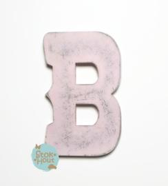 Vintaged Circus letter - 20cm/50cm - bv Licht roze