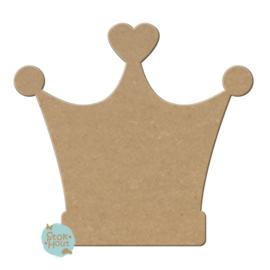 MDF figuur: Kroon Princess (M092)
