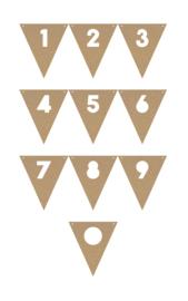 MDF vlaggetjes #2, cijfers 1-0
