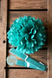 2x Pompon 25cm Turquoise (ST108)