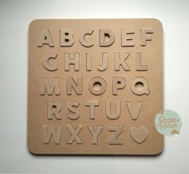 Alfabetpuzzel: Blanco / DIY  (ST211)