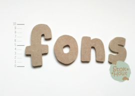 MDF Letters - Lettertype 'Hip'