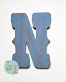 Vintaged Circus letter - 20cm/50cm - bv Zacht blauw