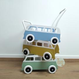 """Loopkarretje """"VW busje"""" (zacht blauw) (ST086)"""