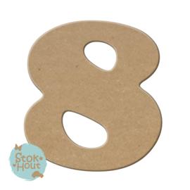 MDF Cijfers - Lettertype 'Stokhout' (0-9)