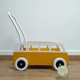 """Loopkarretje """"VW busje"""" (zonnebloem geel) (ST086)"""
