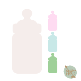 Muurfiguur: Babyfles (M430)