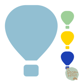 Muurfiguur: Luchtballon (M214)