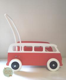 "Loopkarretje ""VW busje"" (bijv. Rood) (ST086)"