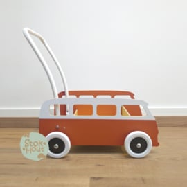 """Loopkarretje """"VW busje"""" (bruin) (ST086)"""