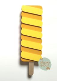 50cm groot 2,5D figuur Ijslolly #2 (bijvoorbeeld Oranje met Zacht geel) TM026