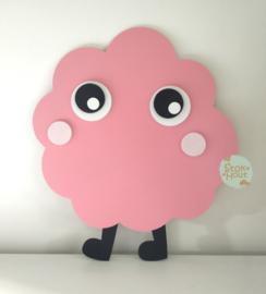 50cm groot 2,5D figuur Monstertje (bijvoorbeeld Seventies roze) TM012