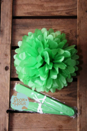 2x Pompon 25cm Gras Groen (ST111)