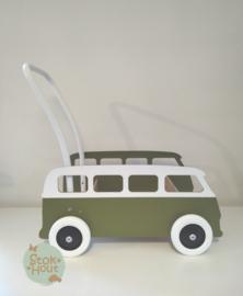 """Loopkarretje """"VW busje"""" (bijv. Soldaat groen) (ST086)"""