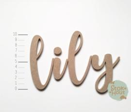 MDF Letters - Lettertype 'Kalligrafie'