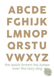 MDF Letters - Lettertype 'Basic'