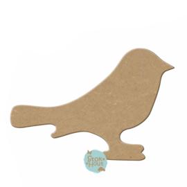 MDF figuur vogel 10cm x 6mm