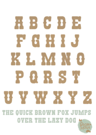 MDF Letters - Lettertype 'Circus'