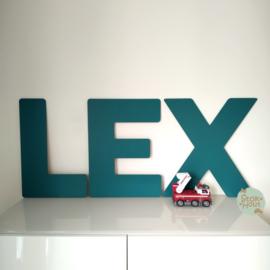 Gekleurde Letters - Lettertype 'Basic'