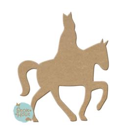 MDF figuur: Sint op paard (M064)
