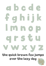 Gekleurde Letters - Lettertype 'Hip'