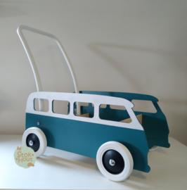 """Loopkarretje """"VW busje"""" (bijv. Petrol blauw) (ST086)"""