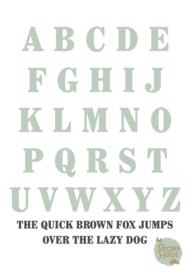 Gekleurde Letters - Lettertype 'Chocolade'
