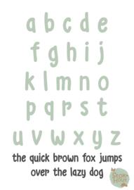 Gekleurde Letters - Lettertype 'Kid'