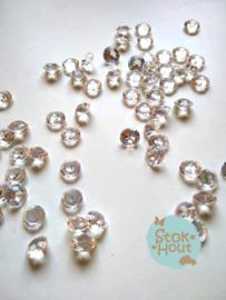 Diamanten - Transparant - 8mm - +/- 100st (ST131)