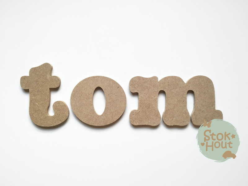 MDF Letters - Lettertype 'Stokhout'