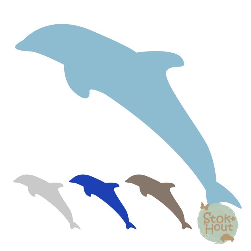 Muurfiguur: Dolfijn (M167)