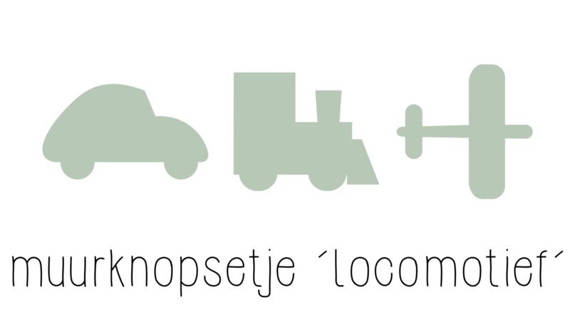 muurknopje combi setje 'locomotief'