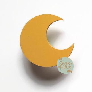 Muurknopje Maan (bijvoorbeeld zonnebloem geel)
