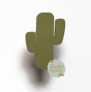 Muurknopje Cactus (bijvoorbeeld soldaat groen)