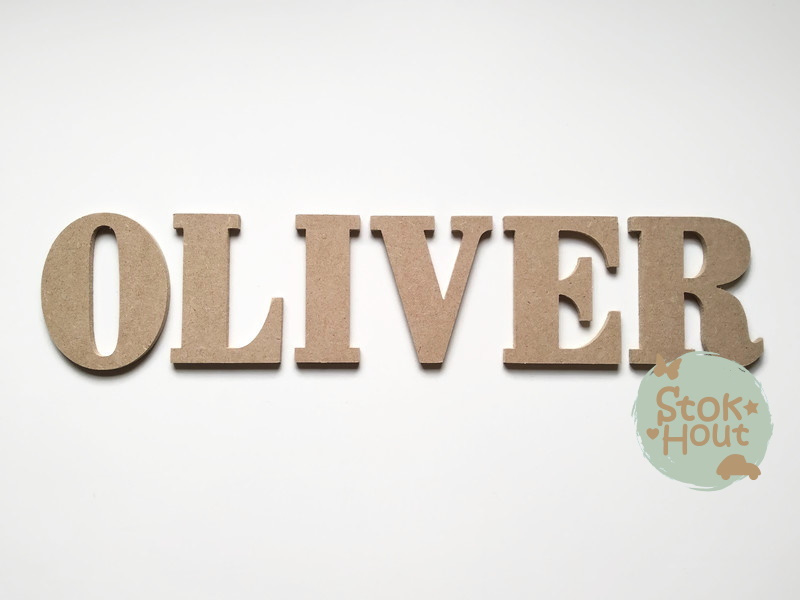 MDF Letters - Lettertype 'Chocolade'