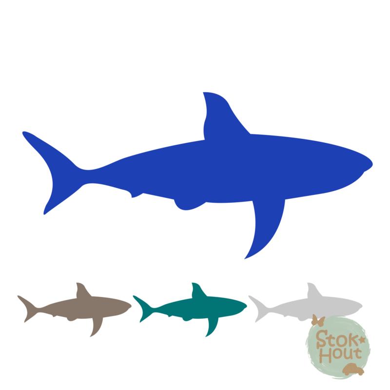 Muurfiguur: Haai (M031)
