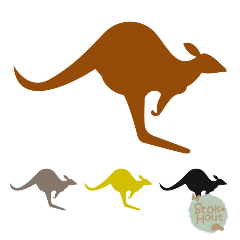 Muurfiguur: Kangaroo (M077)
