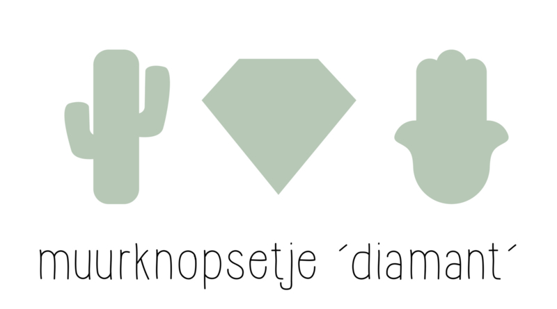 muurknopje combi setje 'diamant'