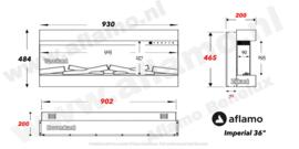 Aflamo Imperial 93cm - Elektrische inbouwhaard