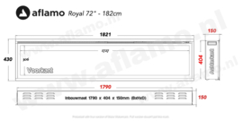 Aflamo Royal Paris 182cm - Elektrische inbouwhaard