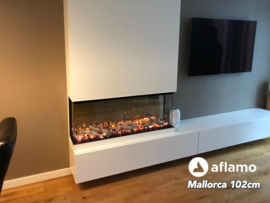 Aflamo Mallorca 100cm - Built-in Electric Fireplace