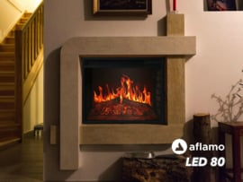 Aflamo LED80 - Elektrische inbouwhaard