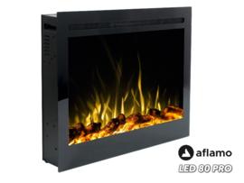Aflamo LED80 PRO- Elektrische inbouwhaard