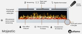 Aflamo Majestic 45 inch White - Built-in Electric Fireplace