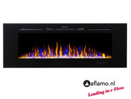 Aflamo Majestic 152cm - Wall Hanging Electric Fireplace