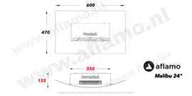 Aflamo Malibu24 Wit- Elektrische wandhaard