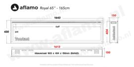 Aflamo Royal Paris 165cm - Elektrische inbouwhaard